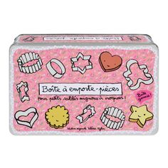 Boite à Emporte-pièces (garnie -16 pièces) Sablés - rose - Designer Valérie Nylin