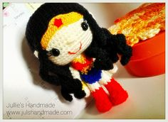 Dolls. super heroes, Wonder Woman, Iron Man, Marvel, Singapore, Jullie's Handmade, Crochet, amigurumi