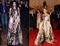 Sarah Jessica Parker In Giles Fall 2013, with a custom Philip Treacy headpiece, over-the-knee Christian Louboutin velvet boots & Fred Leighton jewels– 2013 Met Gala