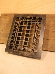 Vintage Metal Furnace Grate Floor Wall Heater Vent Cover