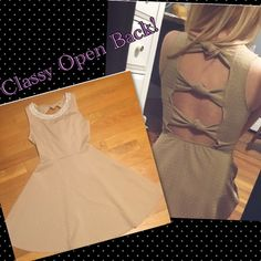 Gorgeous Nude Love Culture Dress Size Small ❤️VDAY DRESS❤️ Brand Love Culture, Nude and very comfortable! Cute bow knots on the back and a very flattering design on the front neckline! Only worn once Love Culture Dresses