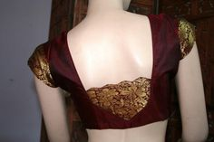 Lovely maroon silk blouse