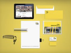 Branding Yellow Film & TV on Behance Susa, Branding, Entertaining, Film, Tv, Yellow, Behance, Design, Movie