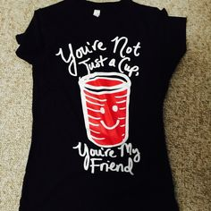 Fun shirt- Red Solo Cup Worn once- bought for a Toby Keith concert! Thought it was fun Tops