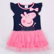 Peppa Pig Conjunto de Vestido y Bolso para ni/ñas