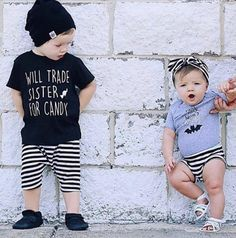 Will Trade Sister shirt, Halloween outfit, sister shirt, little sister shirt, Big sister shirt, girl shirt, boy tee, trendy fall shirt