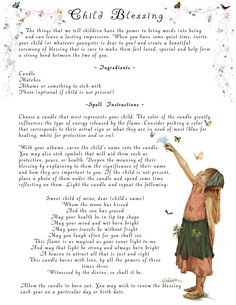 Child blessing spell. This can be done for children of all ages