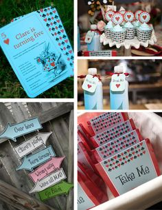 Alice in Wonderland Party in a Box -- Printable Package -- pompdesigns