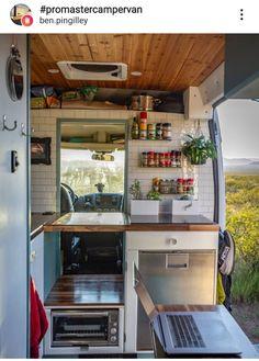 Van Conversion Interior, Camper Van Conversion Diy, Van Interior, Van Conversion Kitchen, Bus House, Tiny House, Mini Van, Camper Van Kitchen, Kombi Motorhome