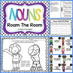 FREEBIE! Check out this free sample from my noun pack. Roam the Room, a foldable flip-book, and worksheets!