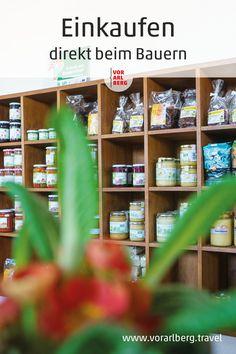 Regionale Produkte direkt vom Erzeuger: Hochwertige Lebensmittel bei qualitätsgeprüften bäuerlichen Produzenten einkaufen. Unsere Empfehlungen für Hofläden in Vorarlberg. Liquor Cabinet, Home Decor, Farm Shop, Farmers, Interesting Facts, Shopping, Foods, Products, Food And Drinks