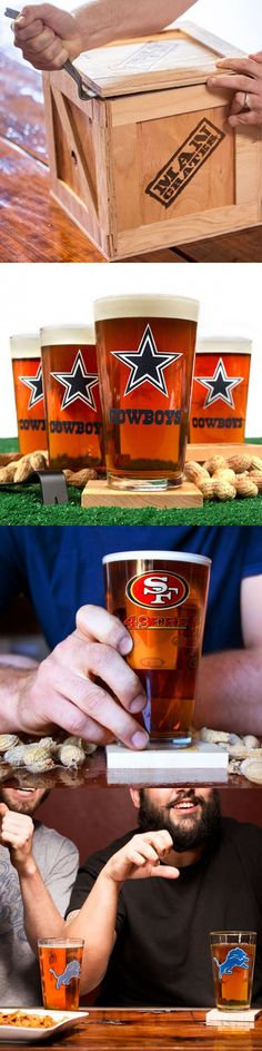 Amazing Father's Day gift especially when football season comes around.  NFL Barware Crate from ManCrates ==