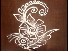 Very Creative & Simple Kolam / rangoli Design without using Dots Rangoli Designs Flower, Rangoli Patterns, Rangoli Designs Diwali, Rangoli Designs With Dots, Rangoli Designs Images, Kolam Rangoli, Beautiful Rangoli Designs, Simple Rangoli, Mehandi Designs