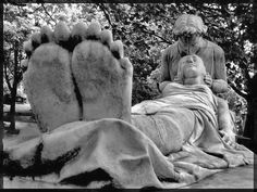 Sometimes you just have to put your feet up and be in the moment. Montreal Cemetery