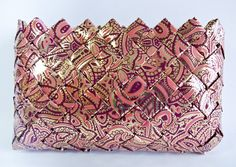 Rosey Makeup Bag / Clutch  Candy Wrapper Style by debbiejodesigns, $32.00