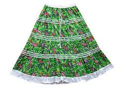 Womans Maxi Skirt Green Floral Printed Bohemian Broomstick Long Gypsy Skirts Mogul Interior http://www.amazon.com/dp/B00XOS60RW/ref=cm_sw_r_pi_dp_ZoQxvb1J3C92B
