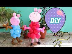 Como fazer PEPPA PIG de Balão - Peppa Pig Balloon - YouTube