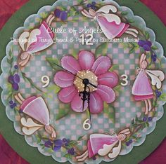 E- PATTERN : Circle of Angels . Designed by Terrye French and painted by me, Elisabetta Mariani .