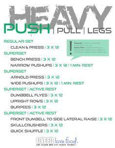 Heavy Lifting....PUSH/PULL/LEG Split.