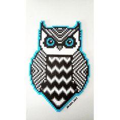 Owl perler bead art by  _beads_art