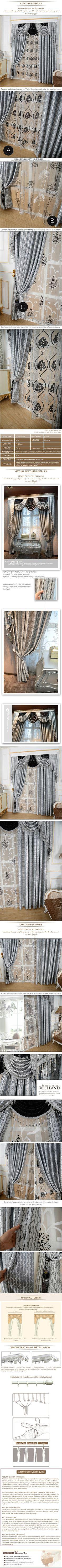 luxury window curtain - Silver Queen $132  (55% off)