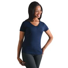 Show details for Ladies V-neck T-shirt