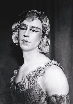Ballet Russes Dancers    Vaslav Fomich Nijinsky, Russian ballet star, (1888-1950) pictured in 'La Spectre de la Rose' in the 1920s.  Courtesy of Assouline