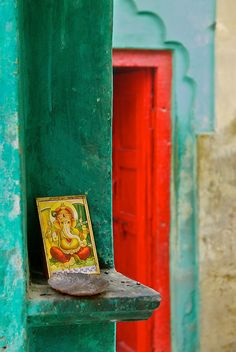 Ganesh at the doorway...