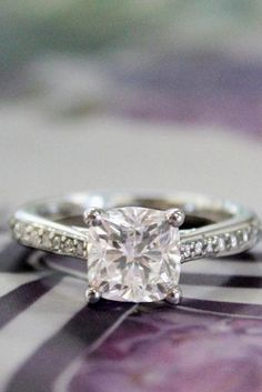 1.00 Ct I Vs Egl Eeuu Natural Princesa Anillo Solitario Diamante De Compromiso Novel Design; In