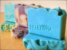 Stamp your soap with a custom-made epoxy soap stamp - that you made yourself! Just carve your logo into an existing bar of soap (can use a printed template or just wing it), shore up the sides with duct tape, pour epoxy on top, let it dry, and stick a wooden handle on it. Easy and cheap.