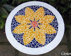 Tampo de Mesa em Mosaico                                                                                                                                                                                 Mais