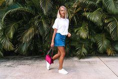 Bagatiba earring / Gina Tricot skirt/ Chanel bag/ Senso shoes