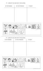 Daily routines flash-cards 2/6 worksheet - Free ESL printable worksheets made by teachers