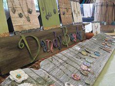 Displaying jewelry on wood