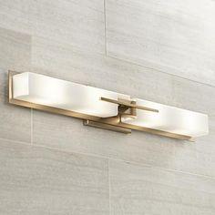 "Possini Euro Midtown 4-Light 31 1/2""W French Gold Bath Light - #1F011 | LampsPlus.com"