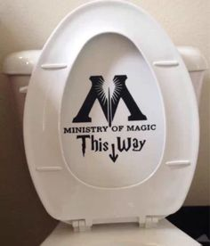 Harry Potter Decal Ministry Of Magic inspired Toilet Sticker Funny Harry Potter Toilet Decal or Bathroom Wall Sticker from WordFactoryDesign on Etsy. Décoration Harry Potter, Harry Potter Thema, Fans D'harry Potter, Harry Potter Birthday, Harry Potter Parody, Harry Harry, Cadeau Harry Potter, Anniversaire Harry Potter, Hogwarts