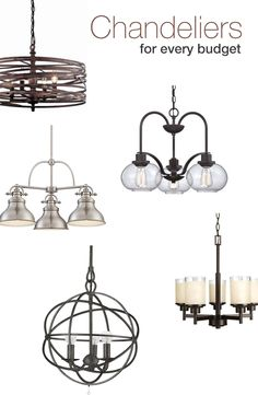 Updating a space can be as easy as changing out the light fixture. We picked out our favorite chandeliers that fit into every budget to help you get started!