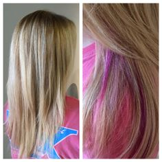 Blonde with a splash of pink by classic pgh