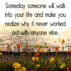 SOMEDAY AND SOMEONE ...