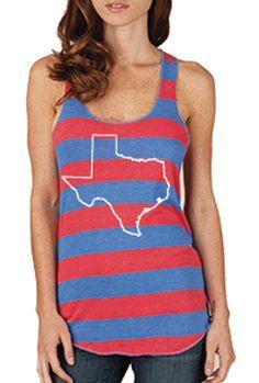 Striped Texas Tank Top