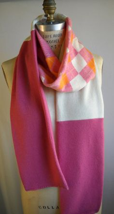 cashmere pieced scarf made from upcycled by thecleverstitcher, $78.00