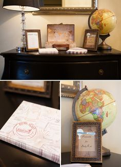 Old World Travel Themed Baby Shower