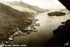 Ketchikan, Alaska. To see all of our old postcards of Alaska, visit http://oldstratforduponavon.com/alaskaother.html