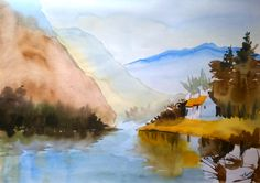 the lake view... ( water color )