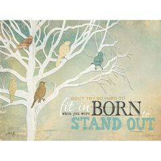 Born to Stand Out - art print by Penny Lane artist Marla Rae.