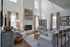 High ceilings, lots of windows, open spaces