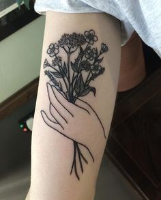 Image result for hands flowers tattoo