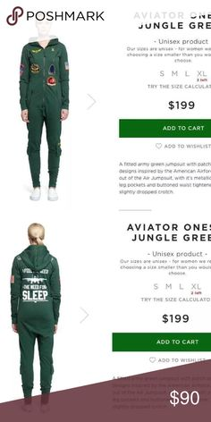 Onesies (NWOT) Norwegian Avatar onesies jungle green. Very comfortable. Worn by kardashian's an other celebs as well. Original price $199 Other