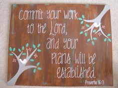 Bible Verse Canvas. I'd love to have a bunch of these in our new house