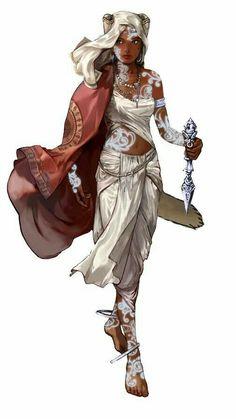 Female Psychic - Pathfinder PFRPG DND D&D d20 fantasy